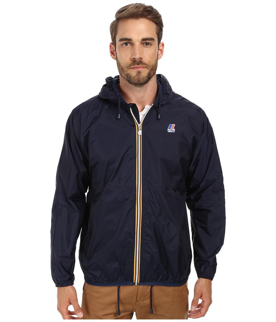 k way claude klassic waterproof jacket w hood navy men 39 s coat dealtrend. Black Bedroom Furniture Sets. Home Design Ideas