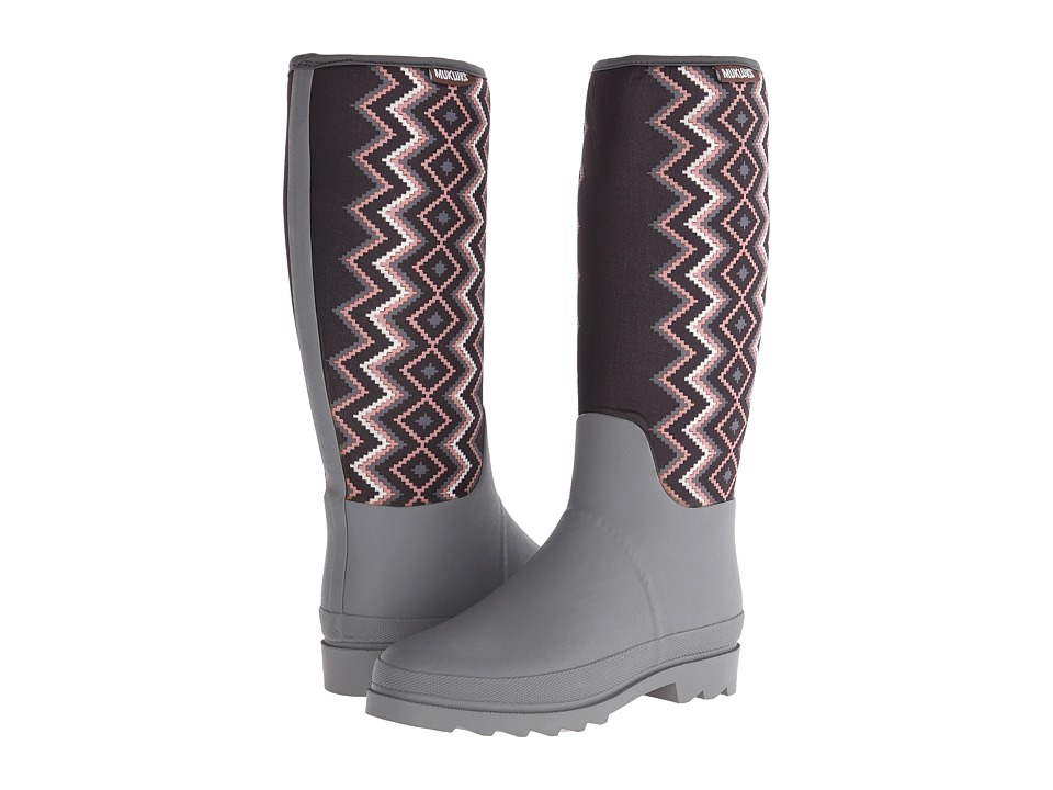 MUK LUKS - Karen Pull-On Rainboot (Grey) Women's Rain Boots