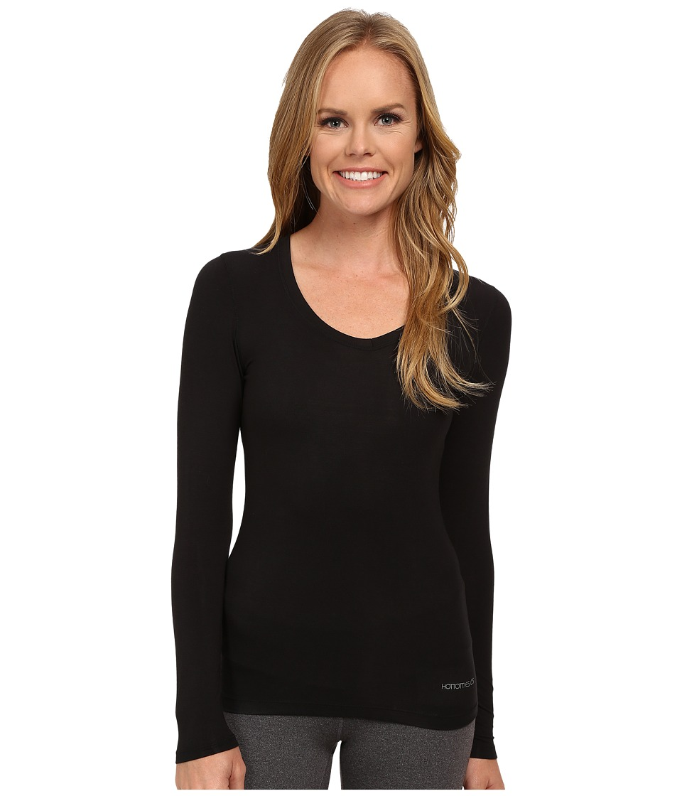Terramar - Kashmir Performance V-Neck W8544 (Black) Women's Long Sleeve Pullover