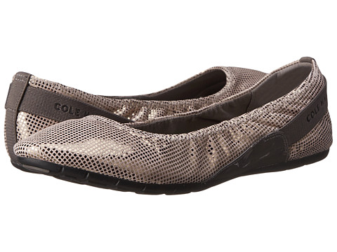 Cole Haan - Zerogrand Stage Door Ballet (Gunmetal Dot Print) Women's Slip on Shoes