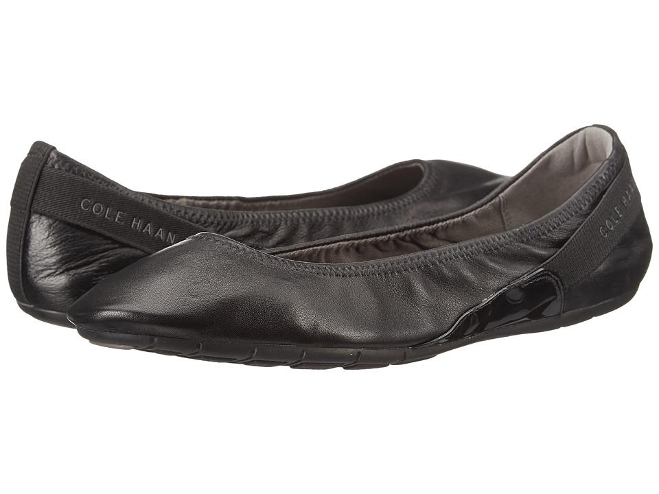Cole Haan - Zerogrand Stage Door Ballet (Black/Black Patent) Women's Slip on Shoes