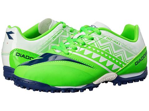 Diadora Kids - DD NA3 R TF Jr Soccer (Little Kid/Big Kid) (Fluo Green/White) Kids Shoes