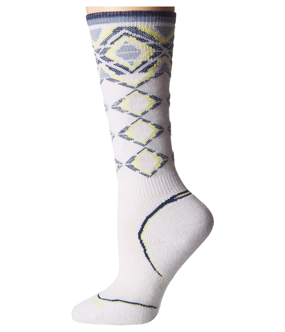 Smartwool - PhD Ski Light Pattern (White) Women's Crew Cut Socks Shoes