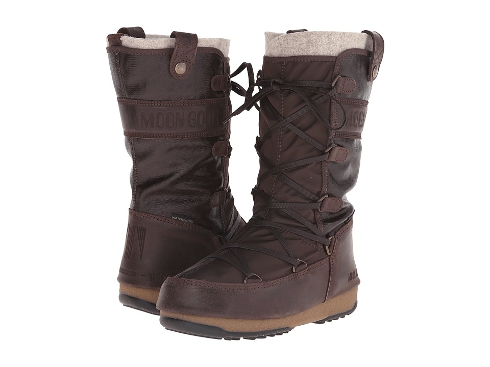 Tecnica Moon Boot(r) W.E. Monaco Mix (Dark Brown) Women
