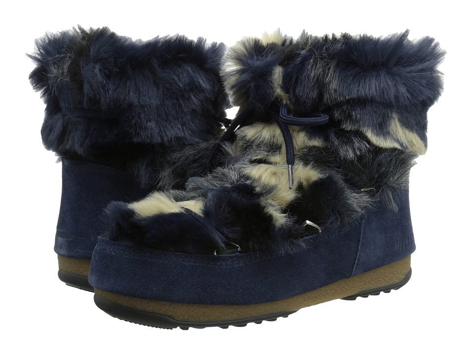 Tecnica - Moon Boot W.E. Low Fur (Blue) Women's Boots