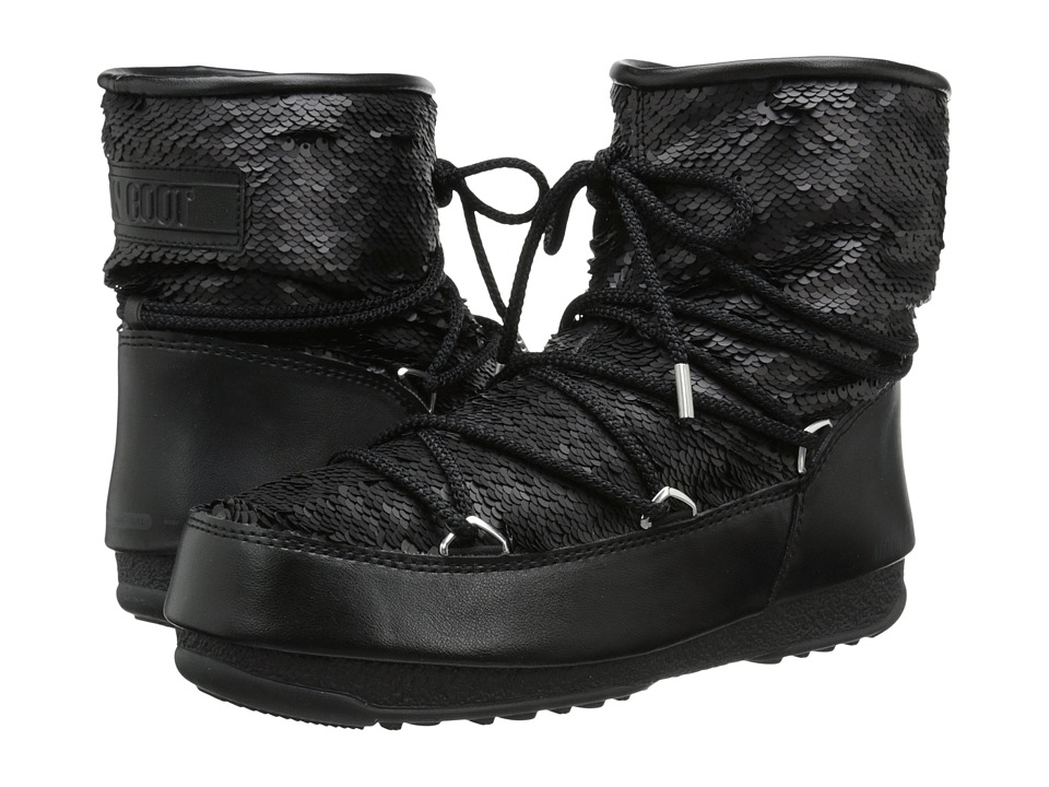 Tecnica - Moon Boot W.E. Low Paillettes (Black) Women's Boots