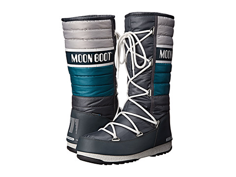 Tecnica - Moon Boot Quilted (Petrol Blue) Women's Cold Weather Boots