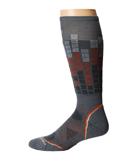 Smartwool - PhD Snowboard Light Pattern (Graphite) Men's Crew Cut Socks Shoes