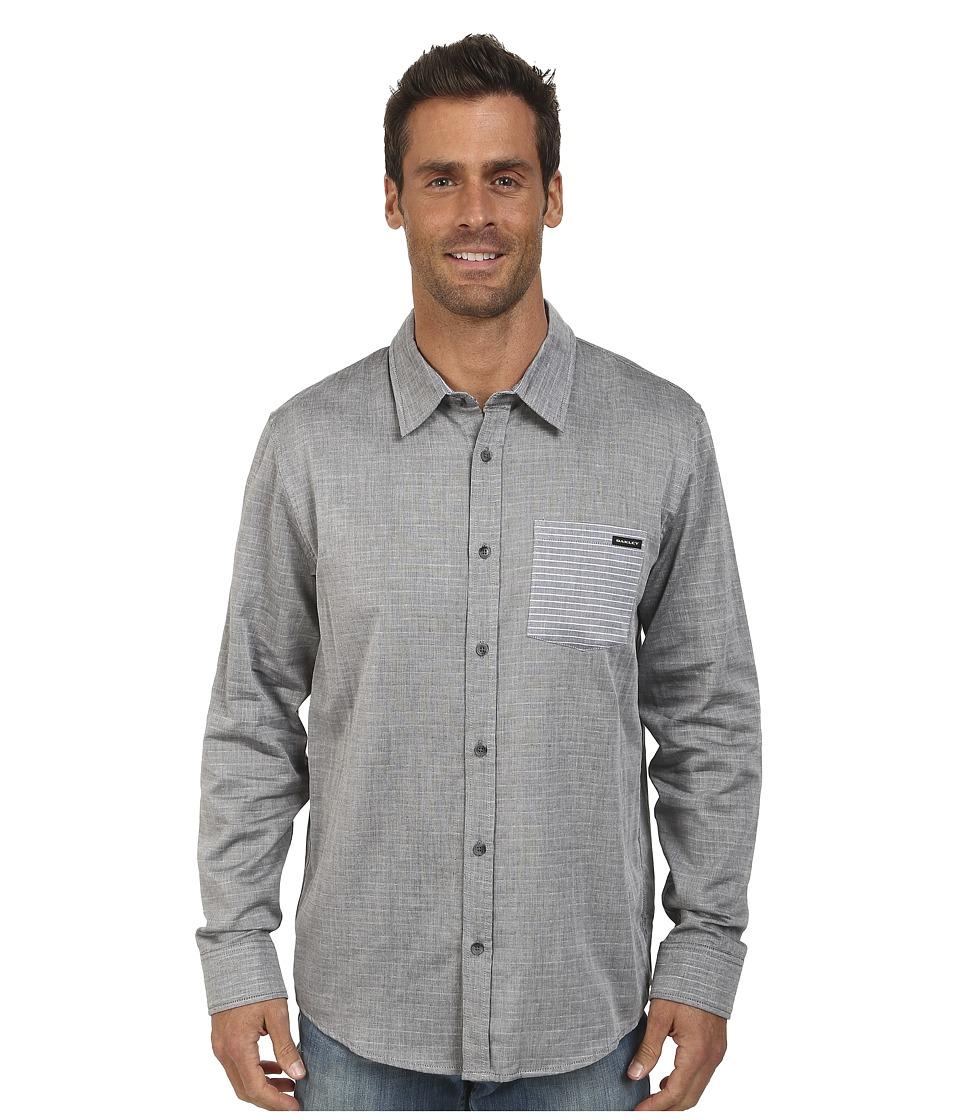 Oakley - Pocket Stripe Woven Shirt (Jet Black) Men