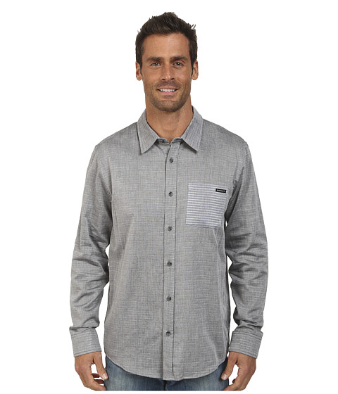 Oakley - Pocket Stripe Woven Shirt (Jet Black) Men's Long Sleeve Button Up