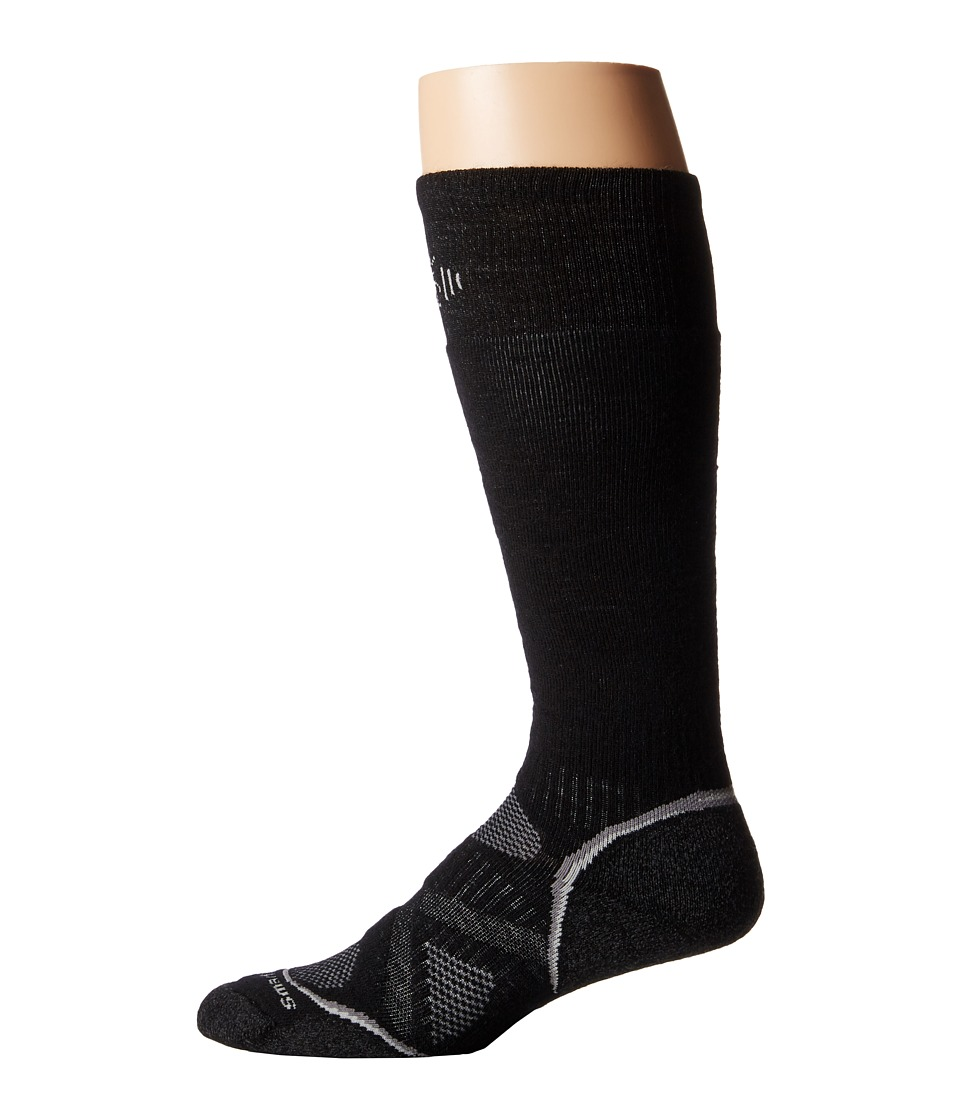 Smartwool - PhD Snowboard Medium (Black) Men's Knee High Socks Shoes