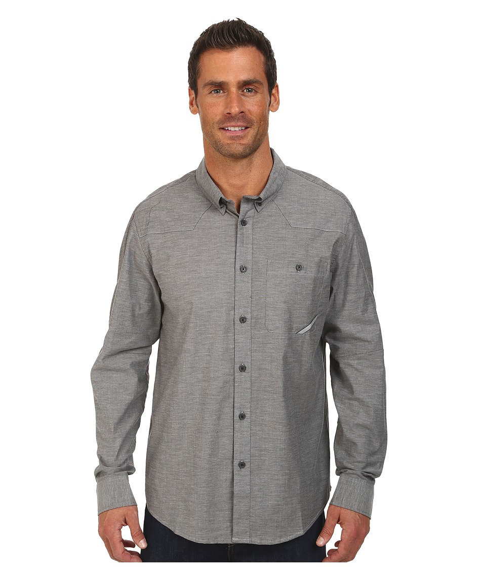 Oakley - Demand Woven Shirt (Jet Black) Men's Long Sleeve Button Up