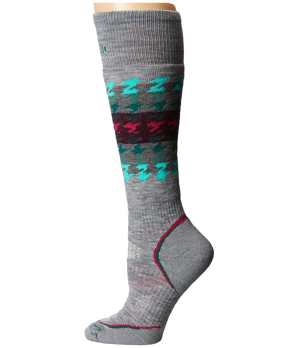 Smartwool - PhD Snowboard Medium (Light Gray) Women's Crew Cut Socks Shoes