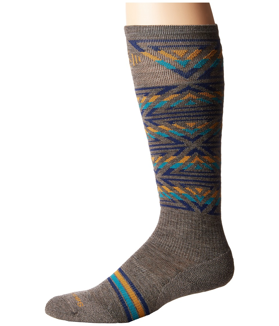 Smartwool - PhD Slopestyle Light Switch Alley-Oop (Taupe) Men's Knee High Socks Shoes