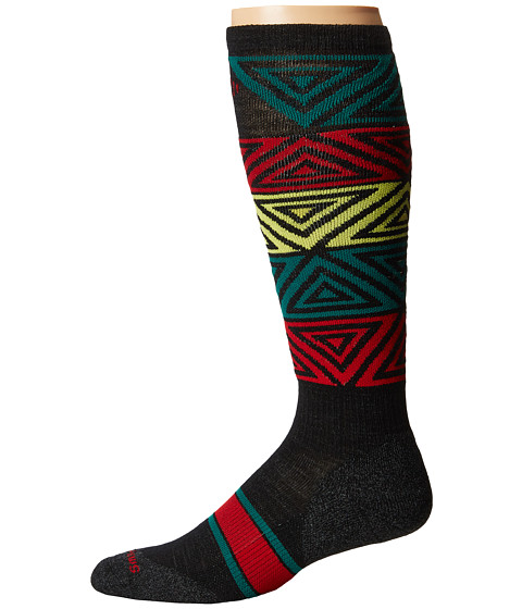 Smartwool - PhD Slopestyle Light Switch Alley-Oop (Black) Men's Knee High Socks Shoes