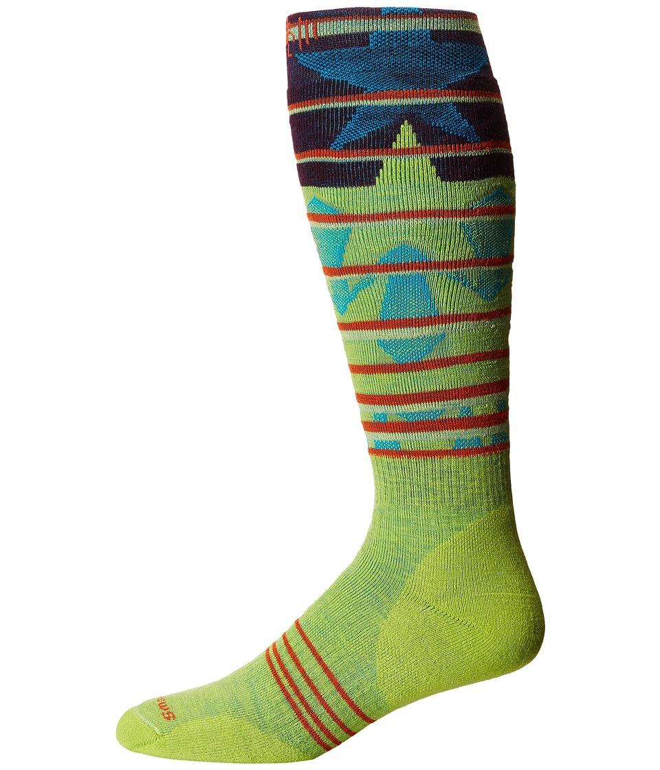 Smartwool - PhD Slopestyle Medium Lincoln Loop (Smartwool Green) Men's Knee High Socks Shoes