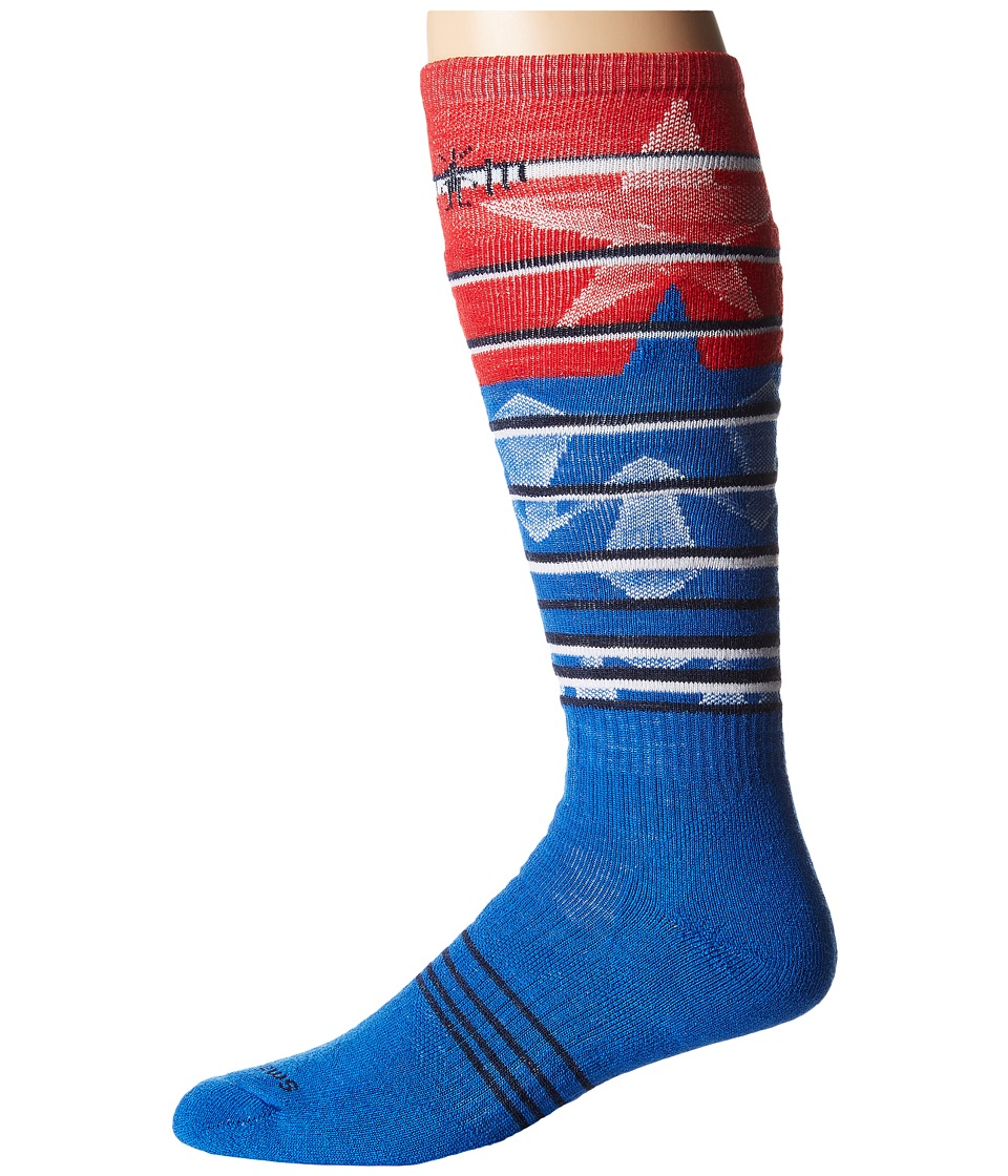 Smartwool - PhD Slopestyle Medium Lincoln Loop (Bright Blue) Men's Knee High Socks Shoes