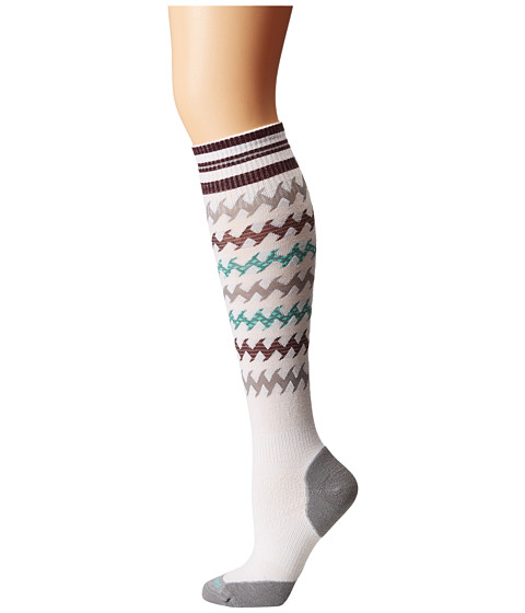 Smartwool - PhD Run Light Elite Kneehigh (White/Canton) Women's Knee High Socks Shoes