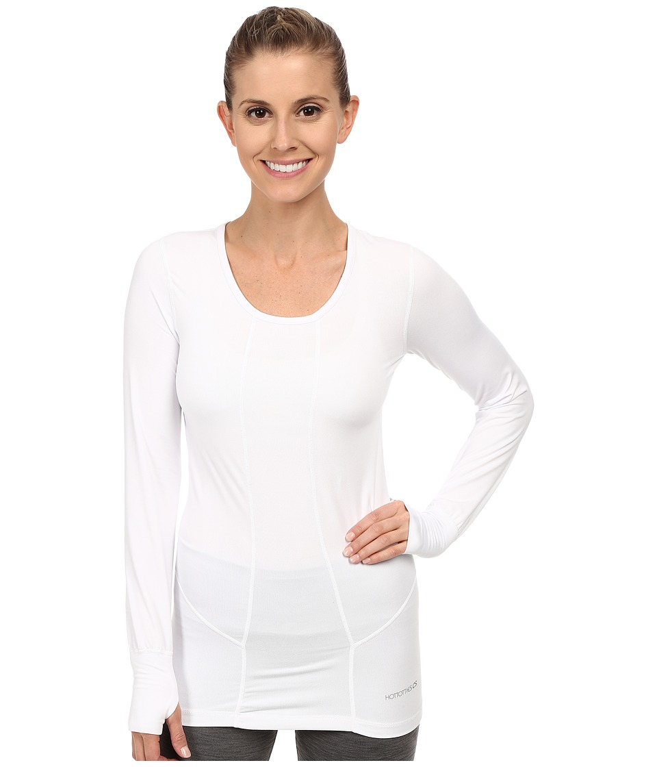 Terramar - Cloudnine Performance Long Sleeve Scoop W8214 (White) Women's Long Sleeve Pullover