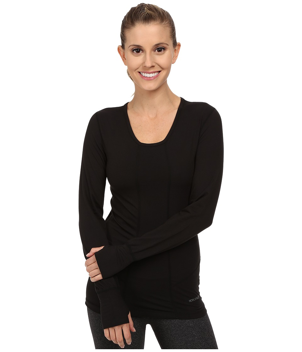 Terramar - Cloudnine Performance Long Sleeve Scoop W8214 (Black) Women's Long Sleeve Pullover