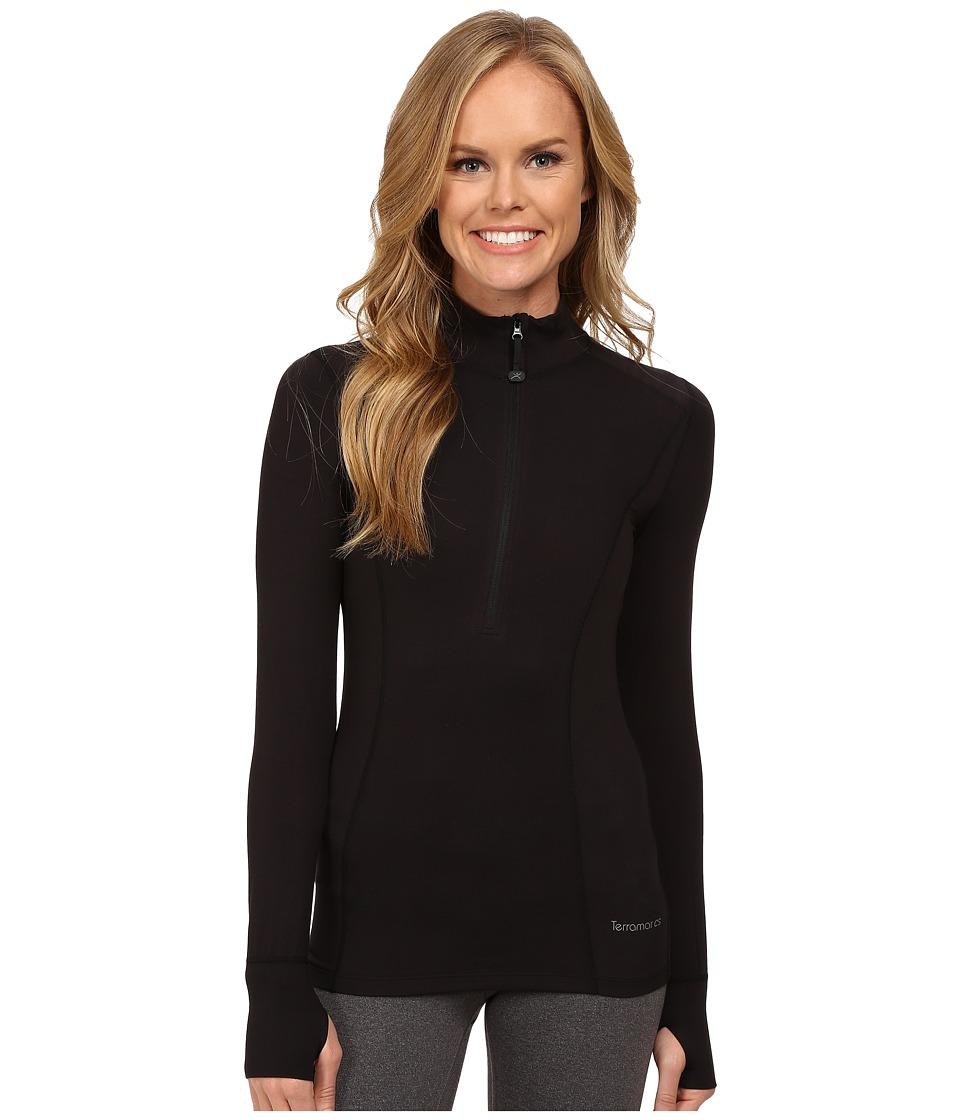 Terramar - Cloudnine Performance 1/2 Zip W8216 (Black) Women's Long Sleeve Pullover