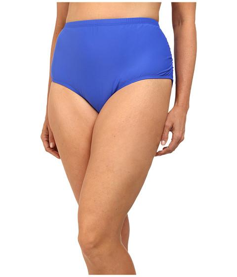 Athena - Plus Size Finesse Shirr Side Bottoms (Blue) Women