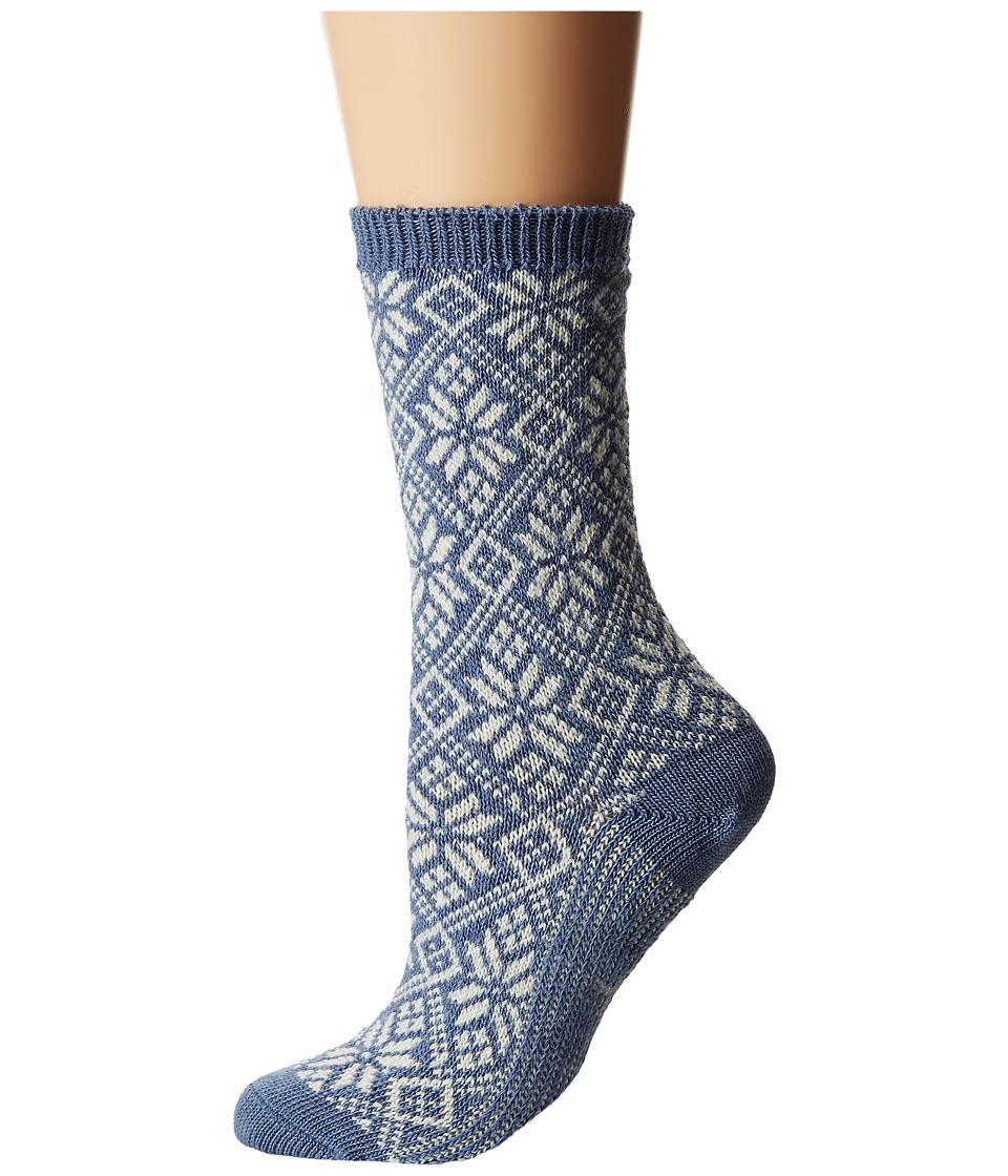 Smartwool - Traditional Snowflake (Blue Steel Heather) Women's Crew Cut Socks Shoes