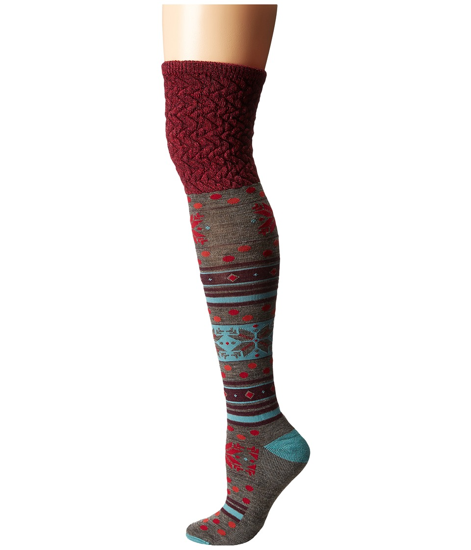 Smartwool - Fiesta Flurry (Canton Heather) Women's Knee High Socks Shoes