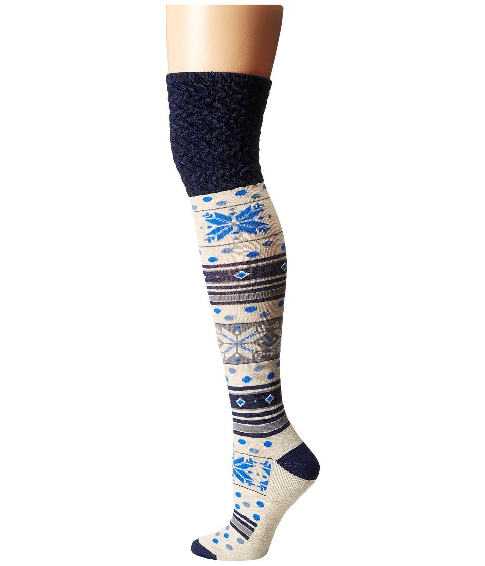 Smartwool - Fiesta Flurry (Ink Heather) Women's Knee High Socks Shoes