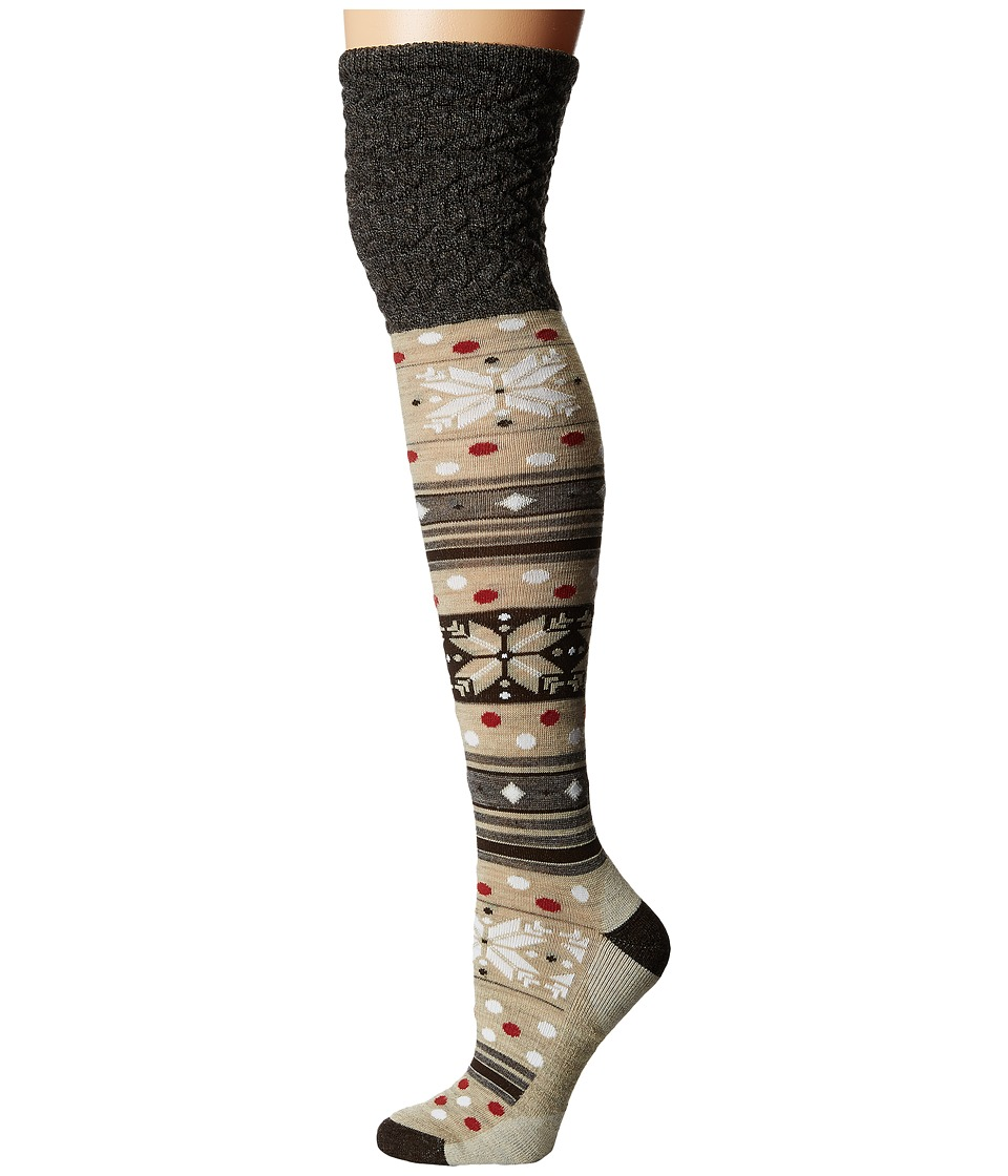 Smartwool - Fiesta Flurry (Chestnut) Women's Knee High Socks Shoes