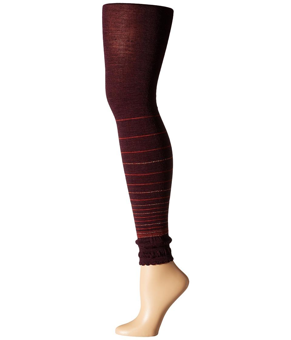 Smartwool - Horizon Line Footless Tights (Aubergine Heather) Hose