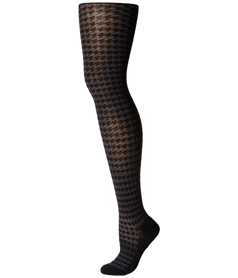 Smartwool - Houndstooth Tights (Black) Patterned Hose