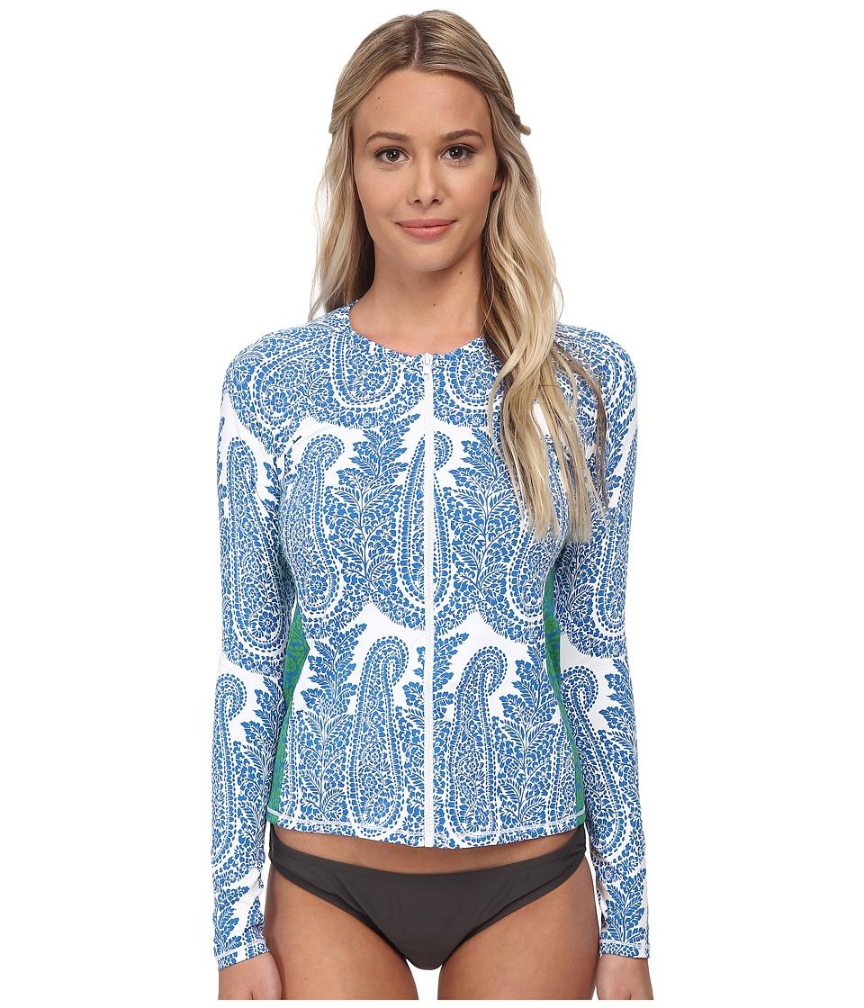 Tommy Bahama - Bandana Long Sleeve Rashguard Cover-Up (Sailor Blue) Women's Swimwear