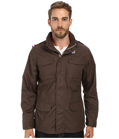 K-WAY - Manfield Waterproof Cotton Plus Jacket w/ Flex Hood (Olive) Men