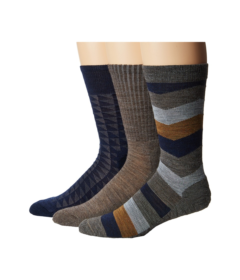 Smartwool - Trio 2 (Taupe) Men's Crew Cut Socks Shoes