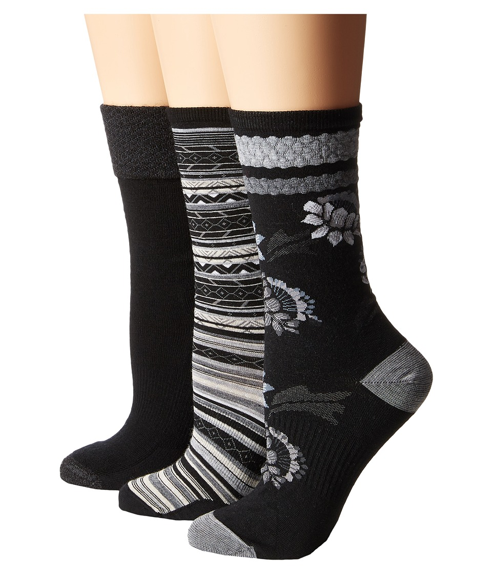 Smartwool - Trio 2 (Black) Women's Crew Cut Socks Shoes