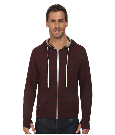 Oakley - O-Stripe Fleece Sweatshirt (Red Mahagony) Men's Sweatshirt