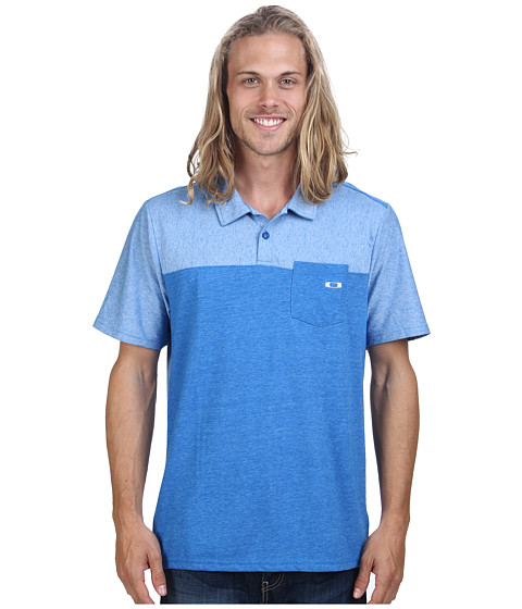 Oakley - Impact Polo Top (Skydiver Blue) Men's Short Sleeve Pullover