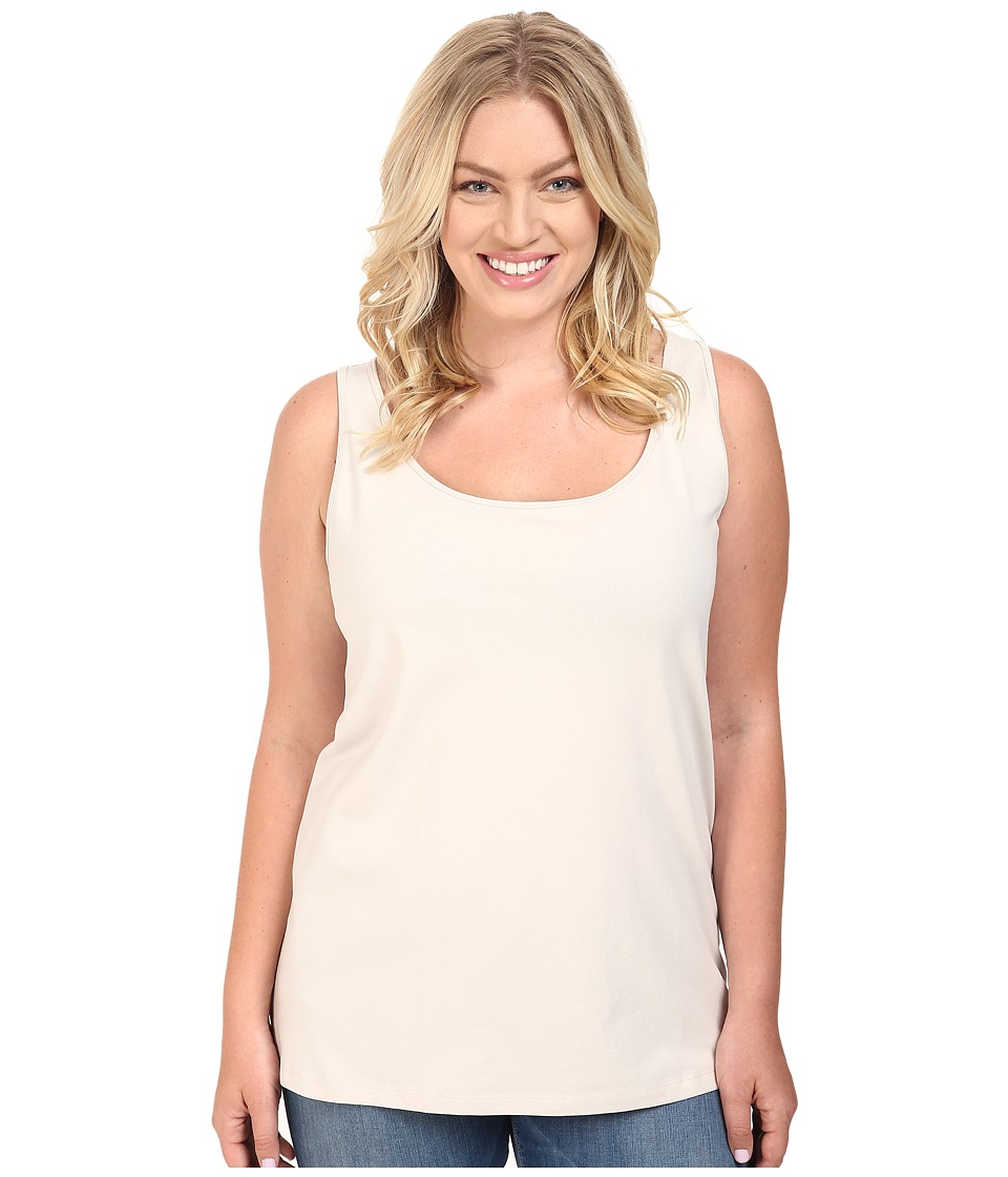NIC+ZOE - Plus Size Perfect Scoop Tank (Powder) Women's Sleeveless