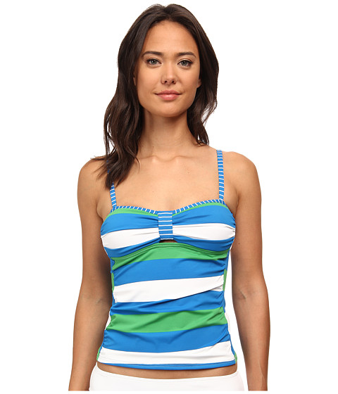 Tommy Bahama - Rugby Over The Shoulder Tankini Top (Sailor Blue) Women's Swimwear