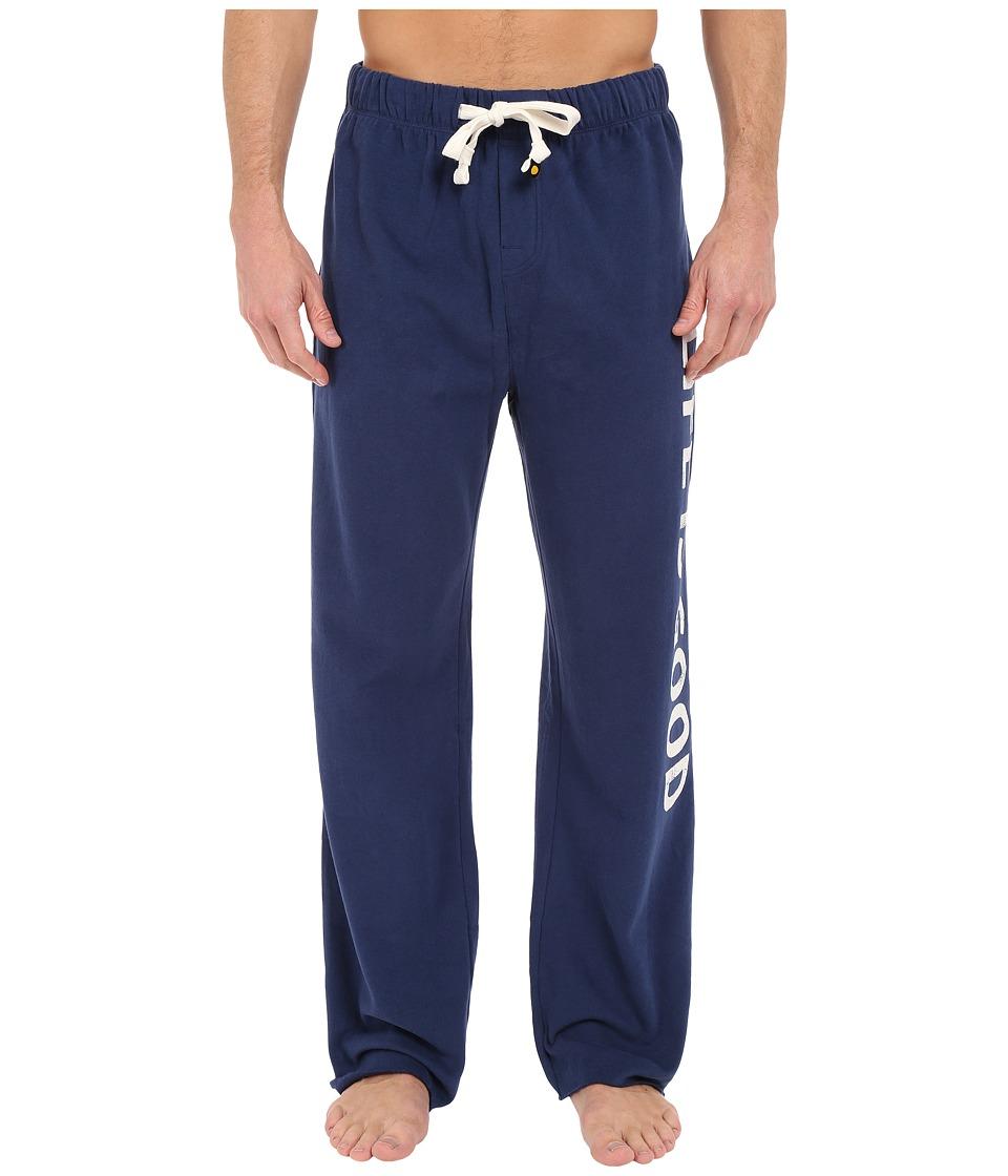 Life is good - Fleece Lounge Pants (Darkest Blue) Men's Casual Pants plus size,  plus size fashion plus size appare