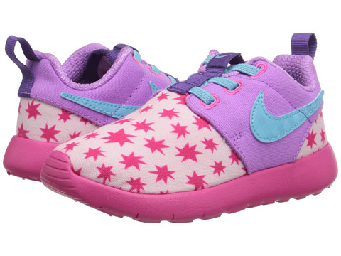 Nike Kids - Roshe One Print (Infant/Toddler) (Prism Pink/Tide Pool Blue/Fuchsia Glow) Girls Shoes