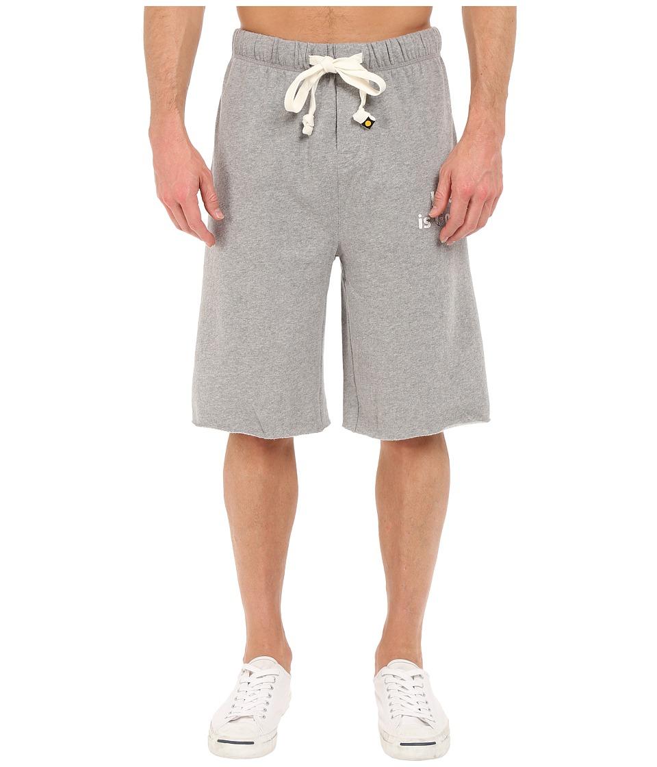 Life is good - Fleece Lounge Shorts (Heather Gray) Men's Shorts