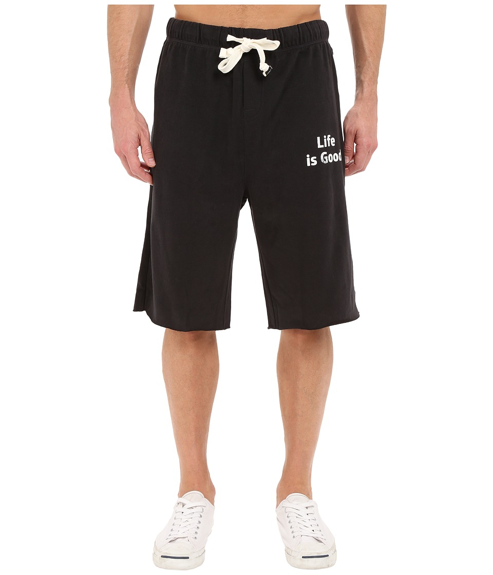 Life is good - Fleece Lounge Shorts (Night Black) Men's Shorts