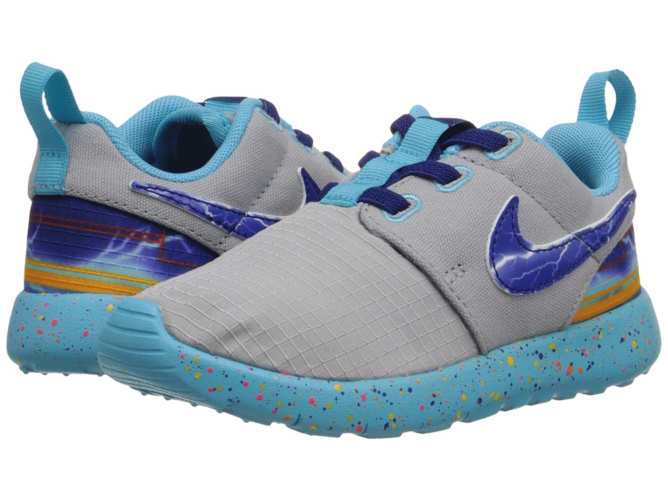 Nike Kids - Roshe One Print (Infant/Toddler) (Wolf Grey/Deep Royal Blue/University Gold) Boys Shoes