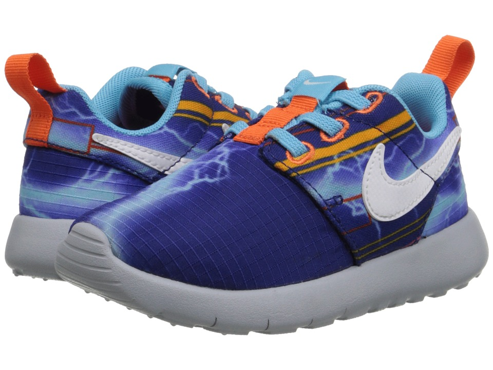 Nike Kids - Roshe One Print (Infant/Toddler) (Deep Royal Blue/White/University Gold) Boys Shoes