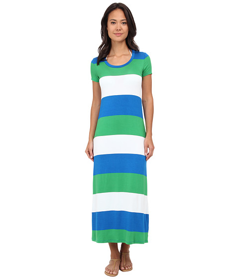 Tommy Bahama - Bold Stripe Long T-Shirt Dress Cover-Up (Sailor Blue) Women's Swimwear