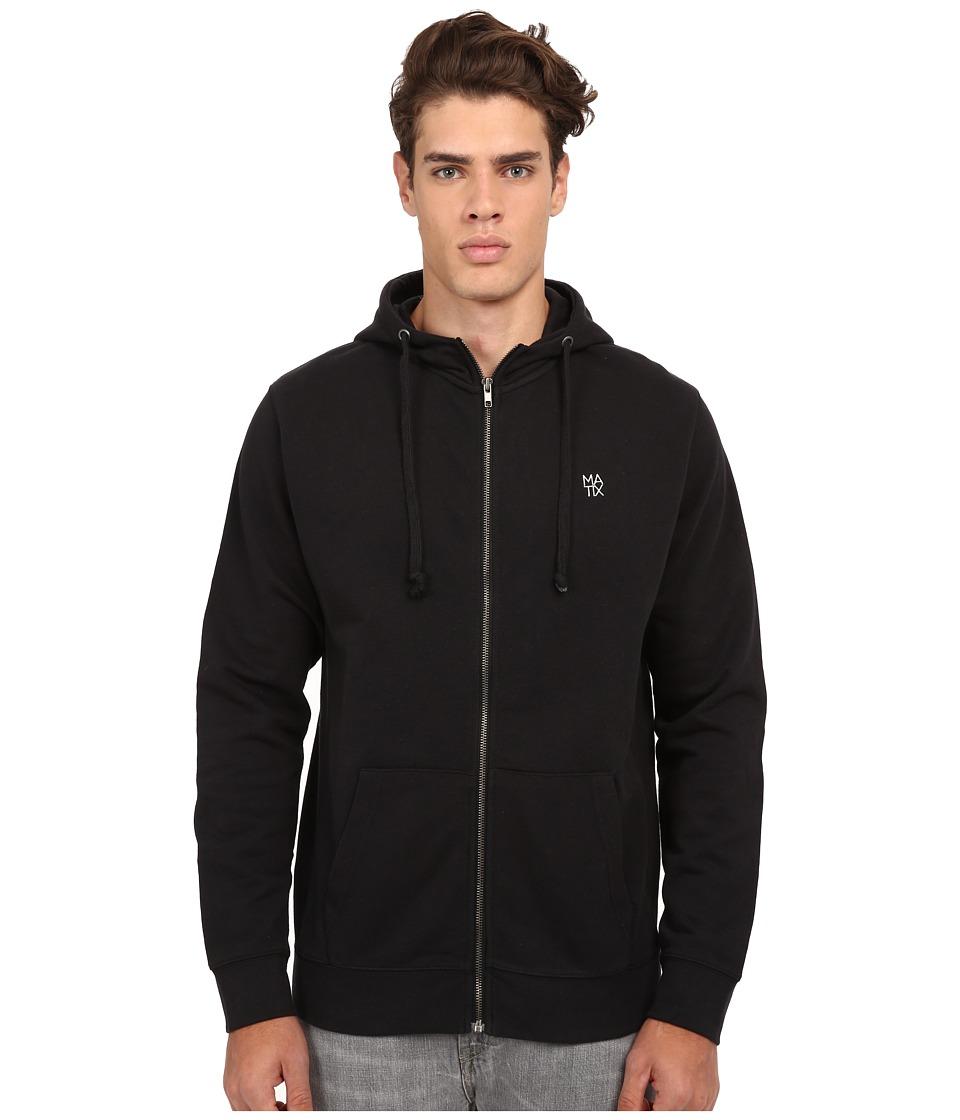 Matix Clothing Company - Monostack Zip Fleece (Black) Men's Sweatshirt