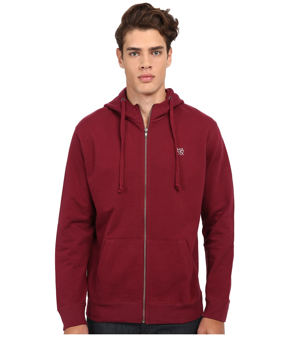 Matix Clothing Company - Monostack Zip Fleece (Ox Blood) Men's Sweatshirt