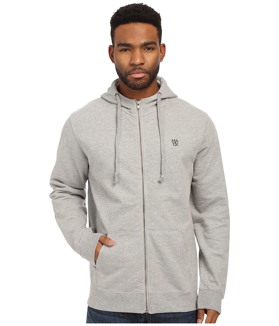 Matix Clothing Company - Monostack Zip Fleece (Heather Grey) Men's Sweatshirt